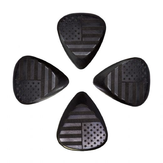 Flag Tones Stars & Stripes African Ebony 4 Guitar Picks